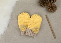 FREE PATTERN: How To Crochet Baby Mittens | Croby Patterns