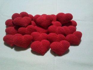 coracao mini amigurumi croche 3d coracao de crochet