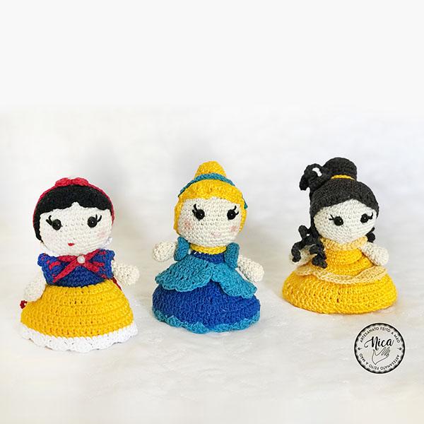 Branca de Neve, Cinderela e Bela, por Sonia Fernandes