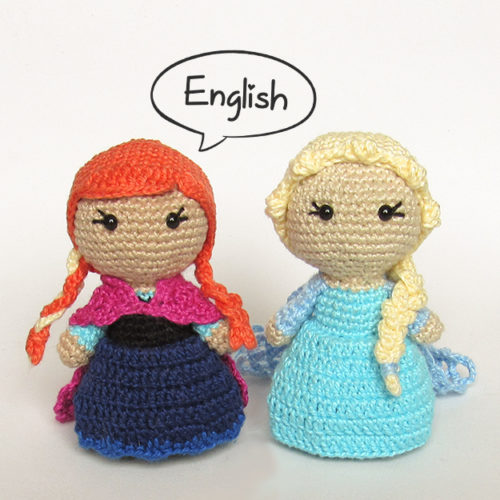 Toy Art Amigurumi Elsa and Anna