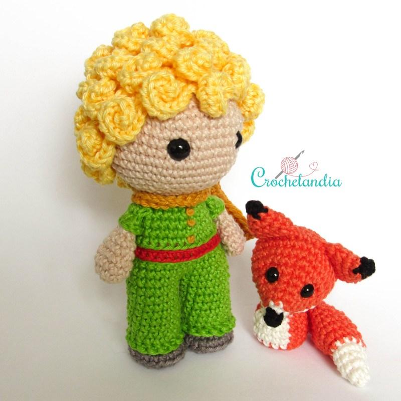 O Pequeno Príncipe e a Raposa - by Crochelandia