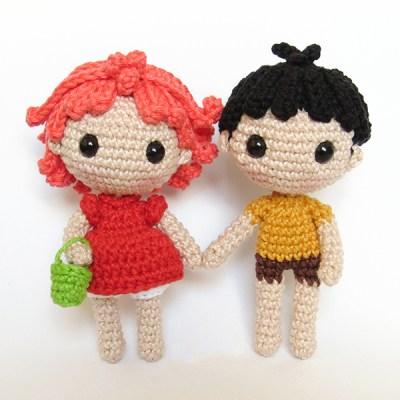 Ponyo e Sosuke - by Crochelandia