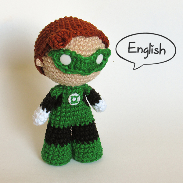 Toy Art Amigurumi Green Lantern - by Crochelandia