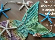 Crochet Blanket Patterns - Mermaid Tail Blankets