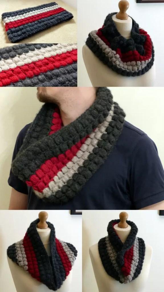 Bubble Wrap Crochet Cowl - free crochet pattern.