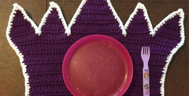Princess Crown Crochet Placemat