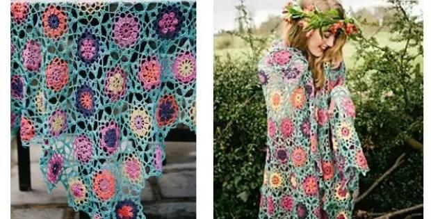 shawl patterns- summer garden crochet pattern