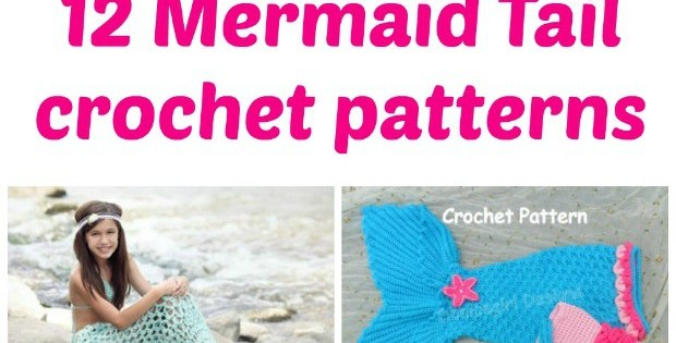 Stunning mermaid tails and mermaid blankets to crochet. For babies, kids, teens and adult sizes.