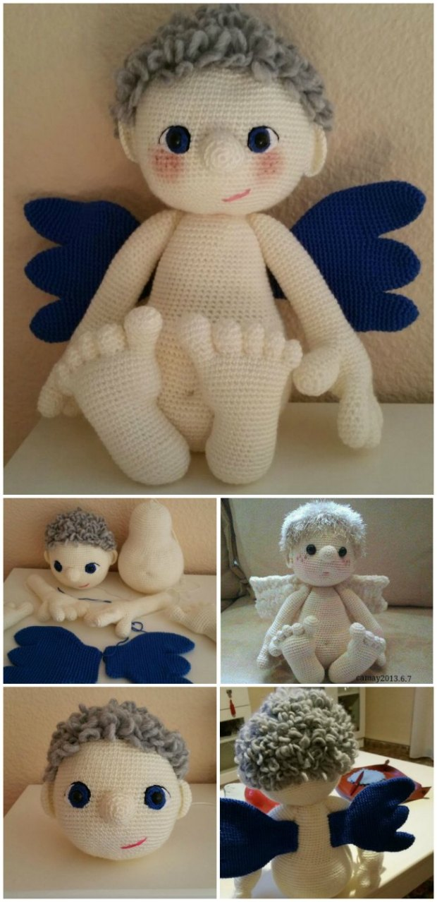 Amazing amigurumi crochet Angel or Cherub pattern - free!