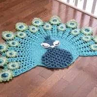 peacock rug crocodile stitch crochet
