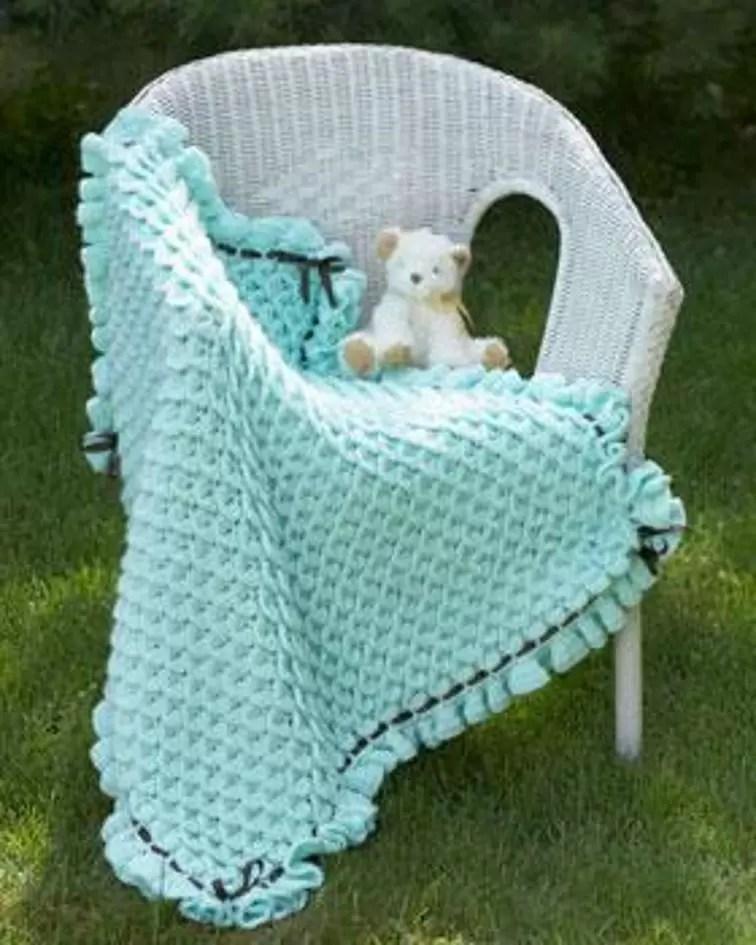 baby blanket crocodile stitch crochet