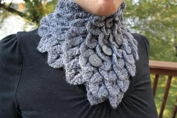 cowl crocodile stitch crochet