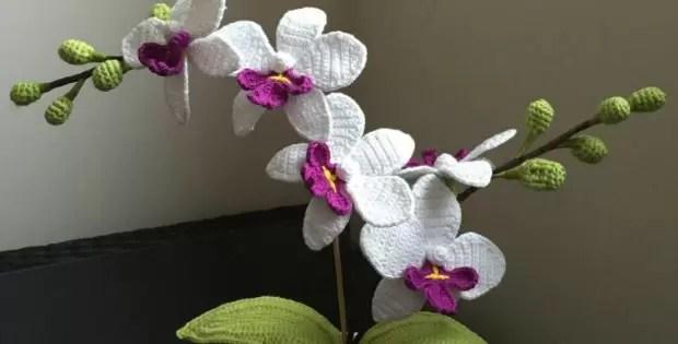 crochet orchid pattern