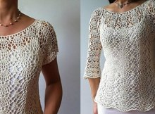 crochet top pattern lacy shell