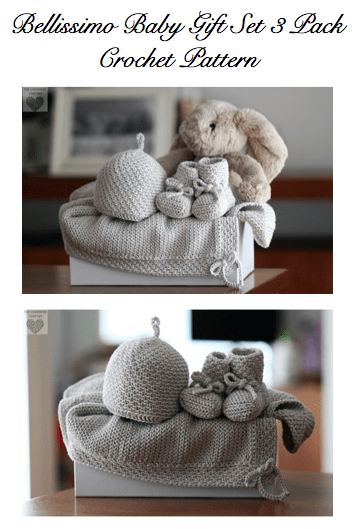 Bellissimo Baby Gift Set Three Pack crochet pattern crochet baby