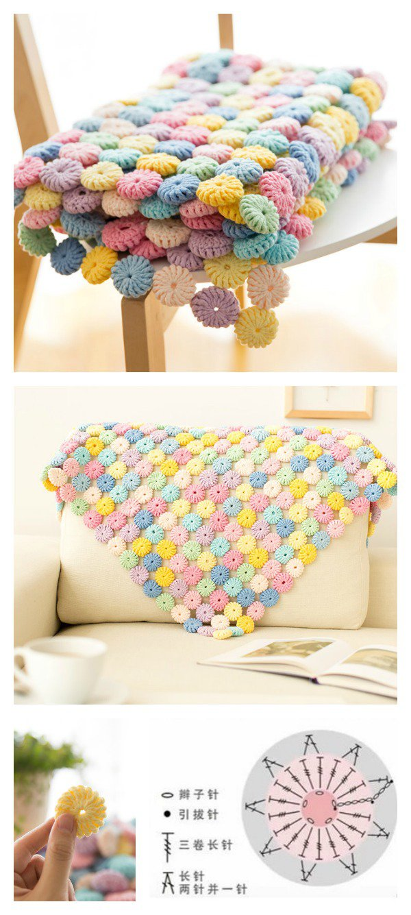 Crochet Macaron Stitch free pattern and video tutorial