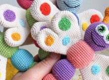 Crochet Baby Rattle Amigurumi Butterfly Pattern