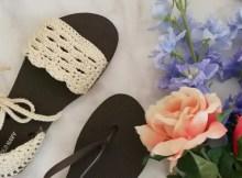 Crochet Sandals with Flip Flop Soles Free Pattern