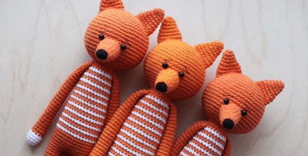 Log Legged Fox Amigurumi Free Crochet Pattern