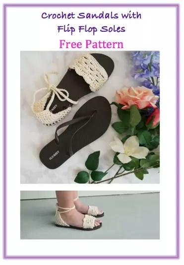 crochet sandals with flip flop sole free crochet pattern free video tutorial
