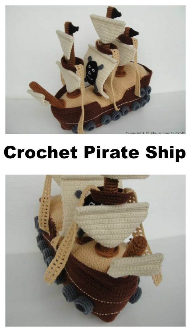 Crochet Pirate Ship - The Perfect Amigurumi Toy For Your Budding Pirate