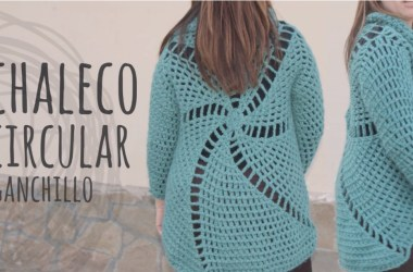 Chaleco crochet circular