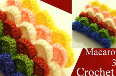 Crochet en 3D punto marshmallow almohadones cojines