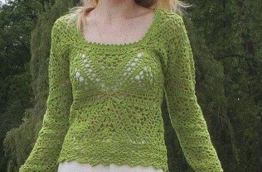 Esquema Crochet Pullover