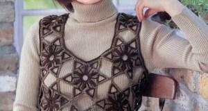 Patrón Bolero din Mangas Crochet