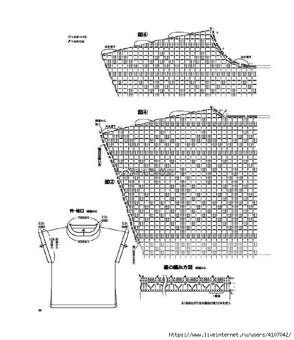 túnica diseño filet