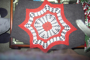 An example of my work - red and white doly