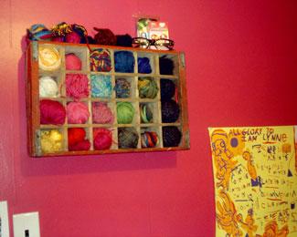 yarn storage at craftser, nifty yarn storage idea