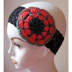 monica burnett crochet headband, crochet flower headband