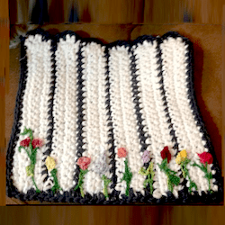 crochet picket fence square