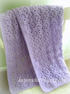 crochet lacy afghan