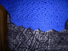 Crochet Bright Blue Yonder Shawl