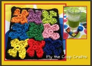 crochet tiny flower coasters