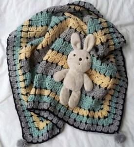 crochet retro baby blanket afghan