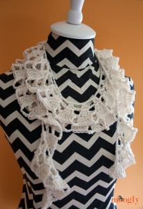 crochet tallulah waterfall scarf