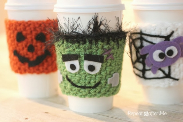 Halloween Crocheted Cup Cozy - Bonbon Break