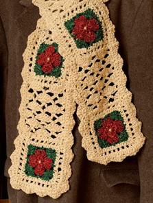 cro poinsettia scarf 0914