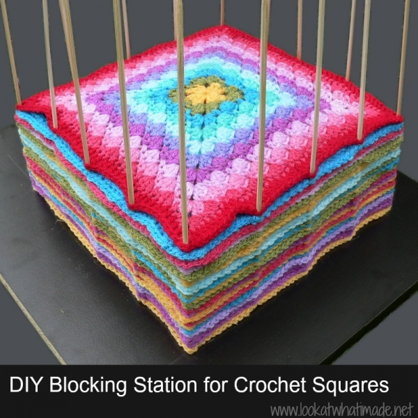 DIY Blocking Station For Squares