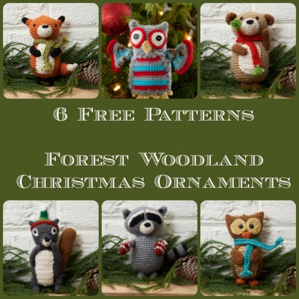crochet-free-christmas-woodland-tree-ornaments-