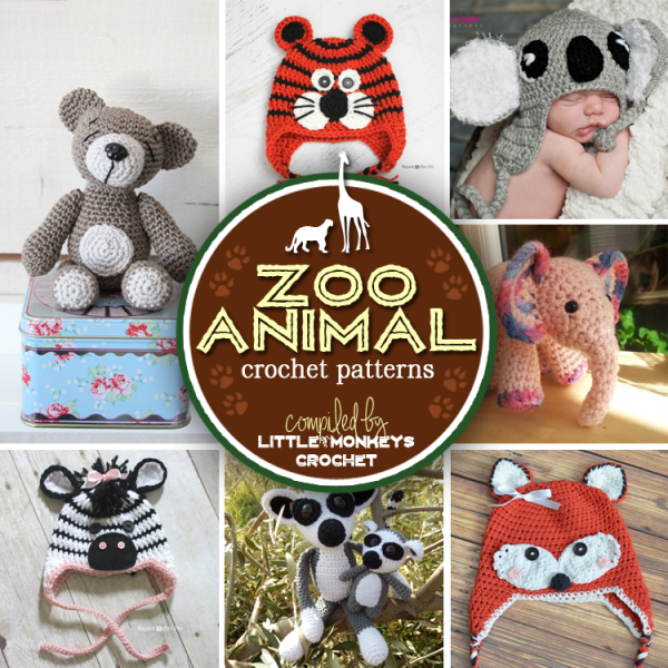Crochet Patterns Animals Free : Free Patterns - Zoo Animals - Crochet