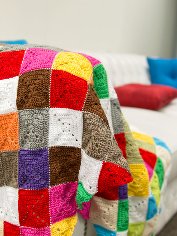 Free Pattern Kalediscope Square Blanket Crochet