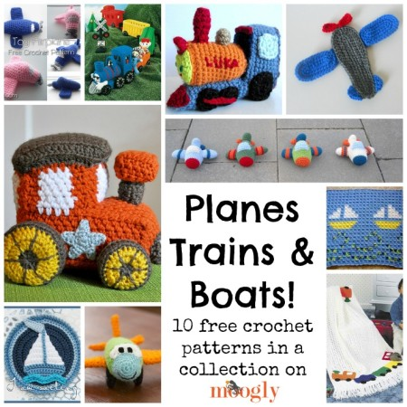 Knitting Pattern For Toy Boat : 10 Free Planes, Trains And Boat Patterns   Crochet