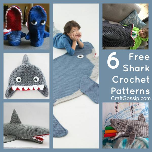 10 Shark Crochet Patterns (Free) + Nautical Design Ideas ... | 600x600
