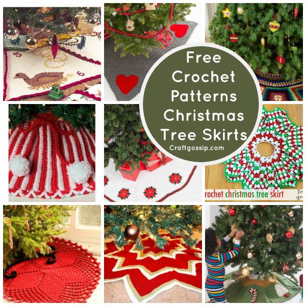 free christmas crochet decoration christmas tree skirt