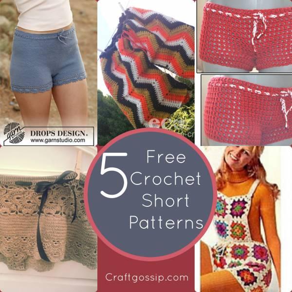 Crochet Shorts Tutorial Mens Shorts Womens Shorts Latest