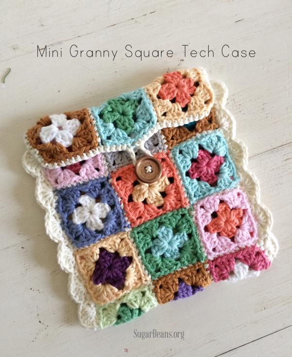 Mini+granny+square+tech+case+tutorial.+SugarBeans.org